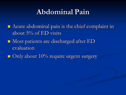 From a presentation by Dr. Josyann Abisaab about abdominal pain